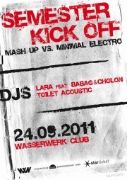 Semester Kick-Off with Lara feat Babag & Cholon, Toilet Acoustic - Flyer front