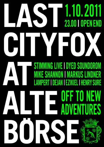 Last Cityfox - Flyer front