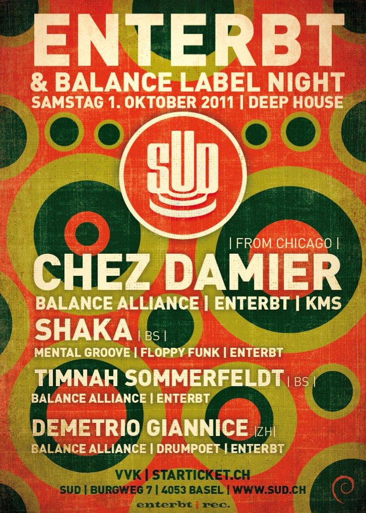 Balance Alliance / Enterbt Label Night with Chez Damier - Flyer front