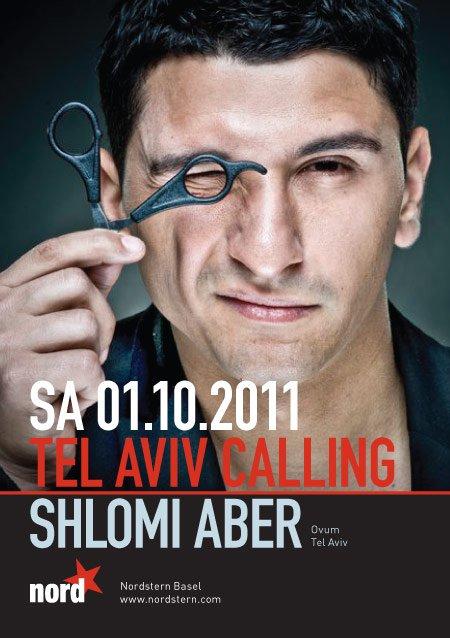 Tel Aviv Calling with Shlomi Aber - Flyer front