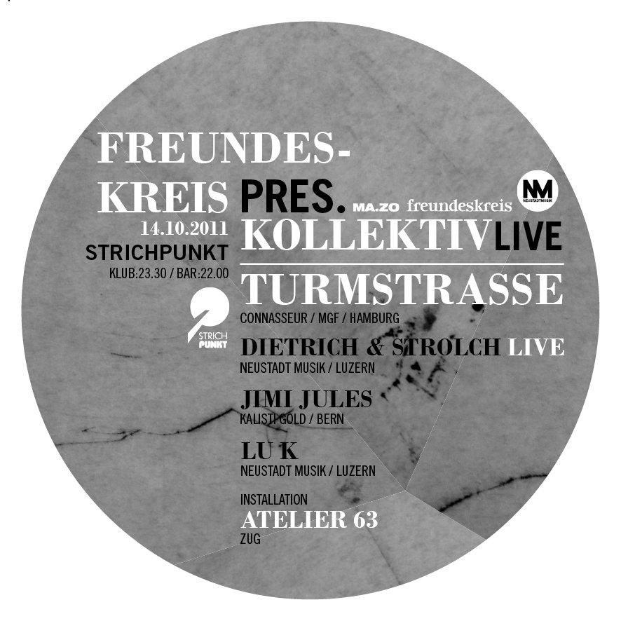 Freundeskreis: Kollektiv Turmstrasse Live - Flyer front
