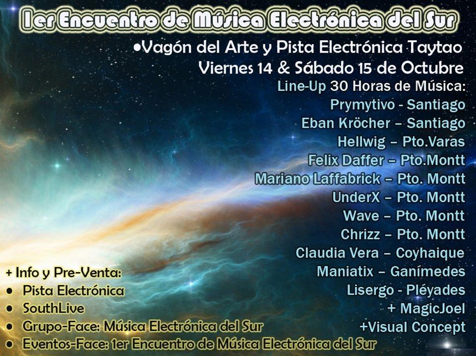 1er. Encuentro De Música Electronica Del Sur - Flyer front