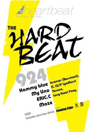 Heartbeat presents The Hard Beat Night - Flyer front
