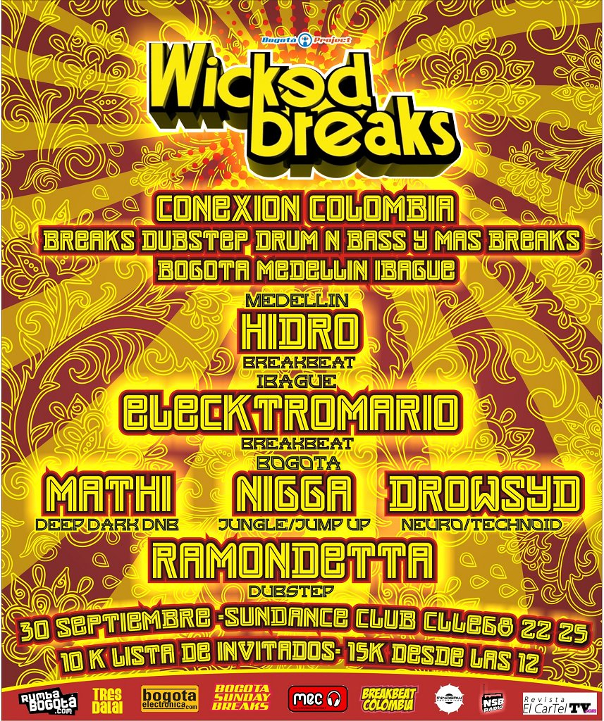Wicked Breaks - Colombia Connection - Flyer front