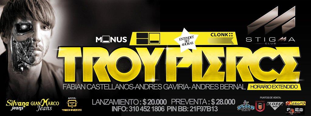Minus Planet Troy Pierce Stigma Club Pereira - Flyer front