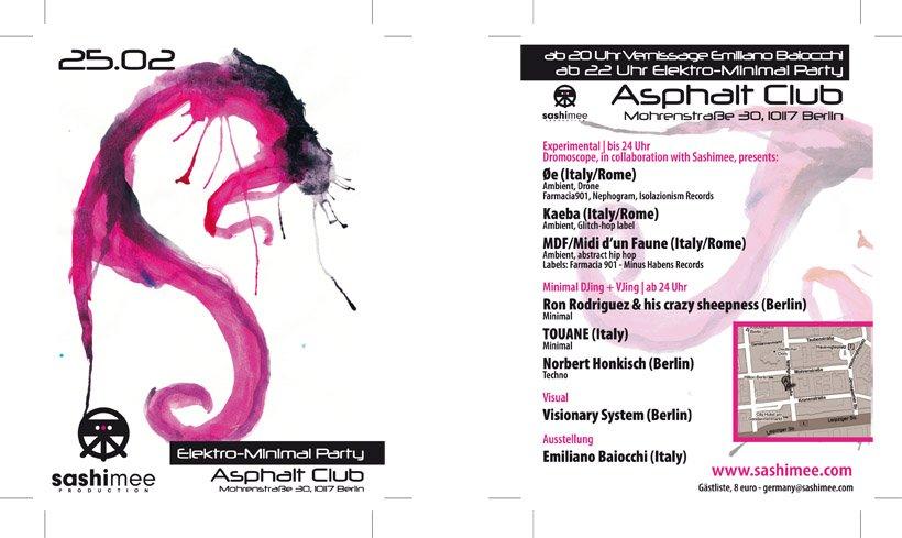Sashimee Goes Asphalt - Flyer front