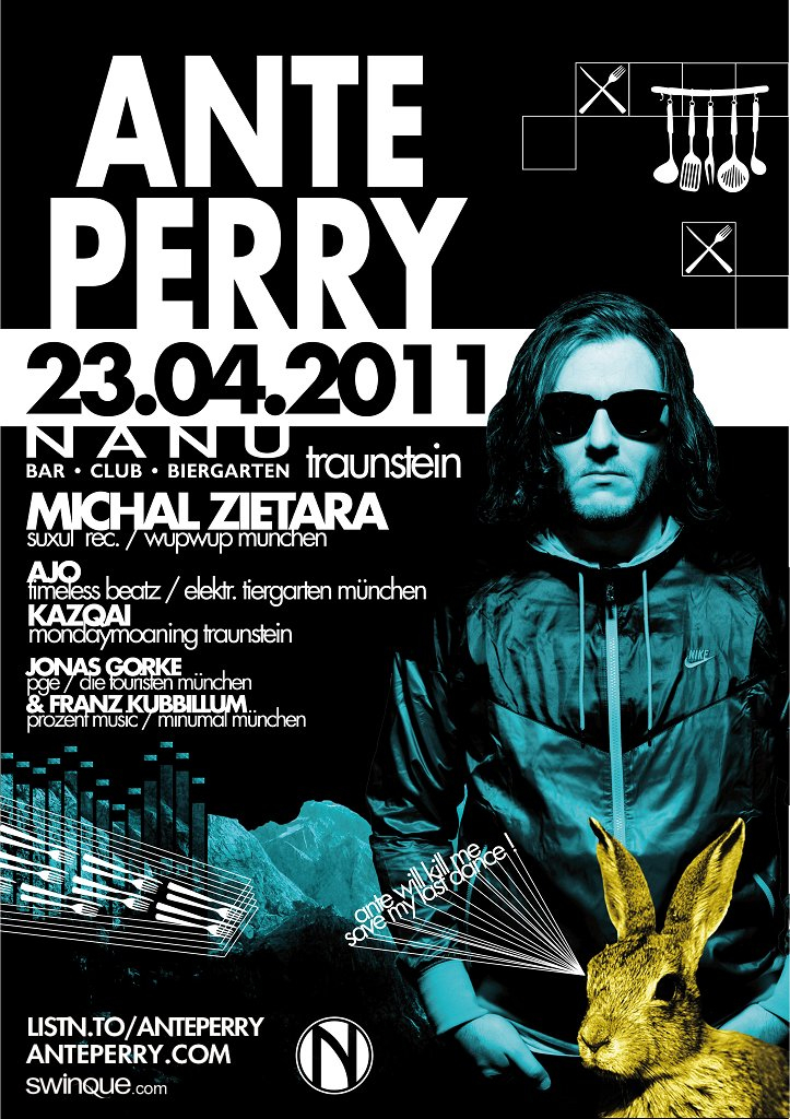 Ante Perry - Flyer front
