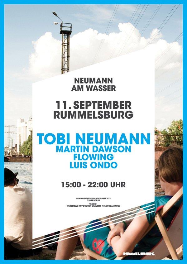 Tobi Neumann Am Wasser - Flyer front