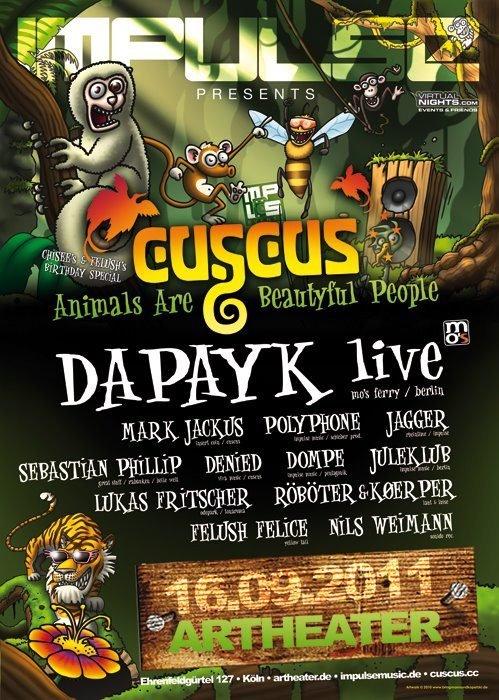Impulse presents Dapayk (Live) - Flyer front
