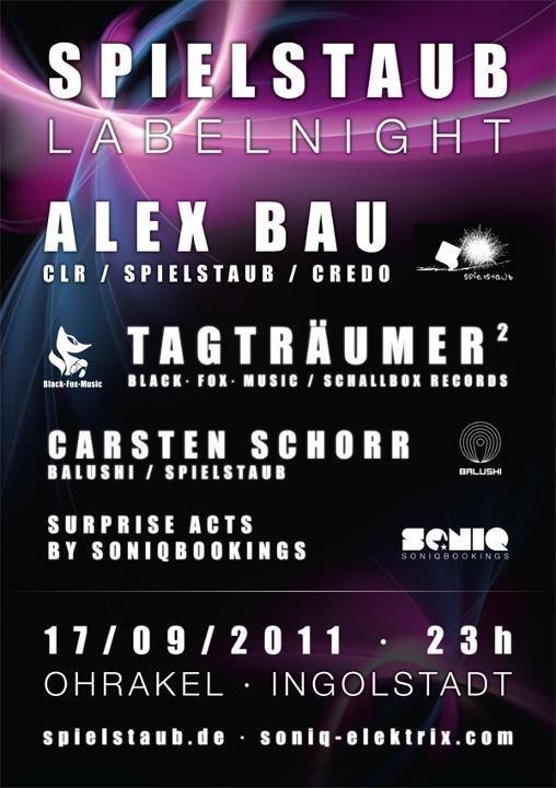 Spielstaub Label Night - Flyer front