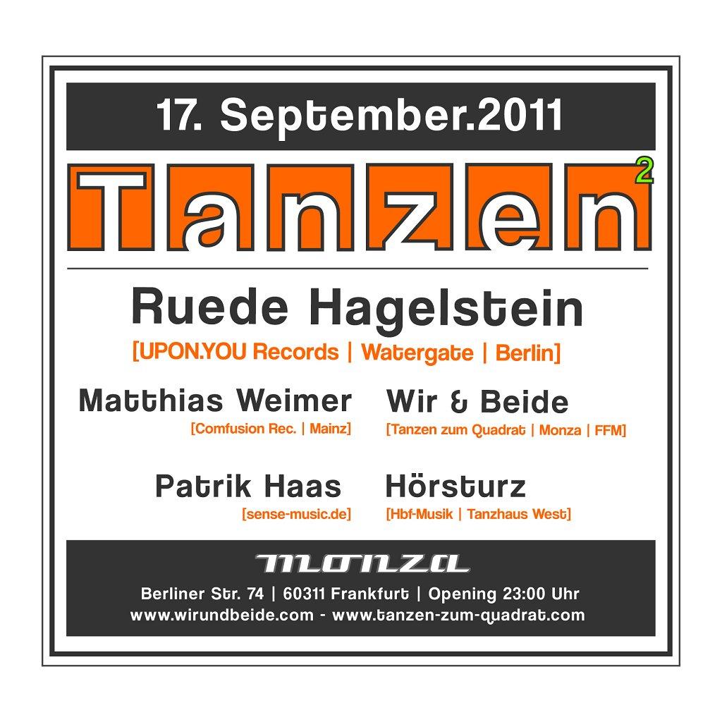 Wir & Beide - Tanzen Zum Quadrat Mit Ruede Hagelstein - Flyer back