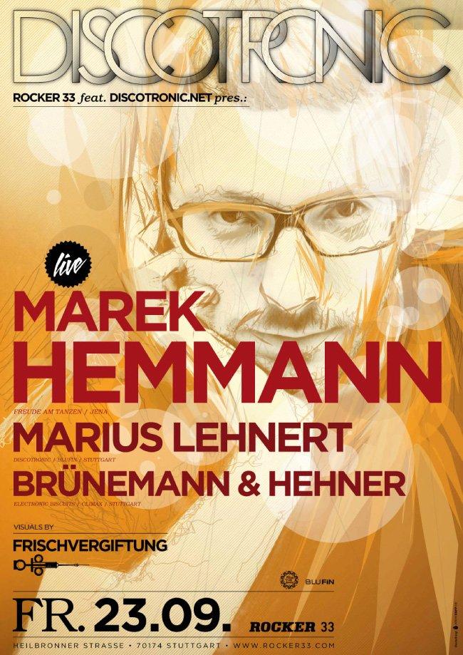 Discotronic Night presents Marek Hemmann - Flyer front
