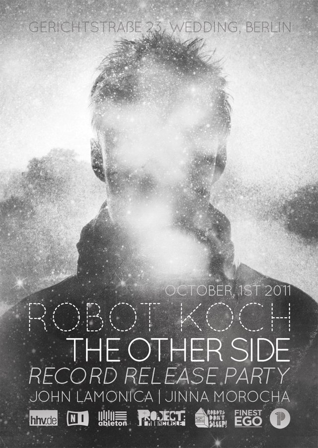Robot Koch 'The Other Side' Record Release Party - Berlin - Flyer front