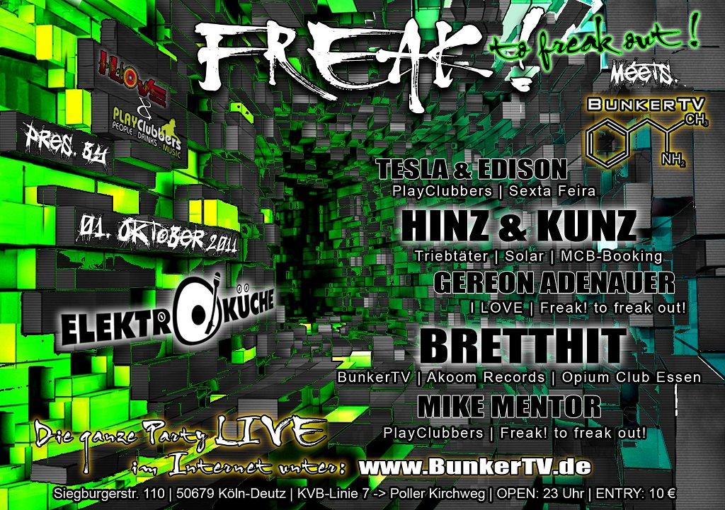 Freak!tofreakout - Flyer front