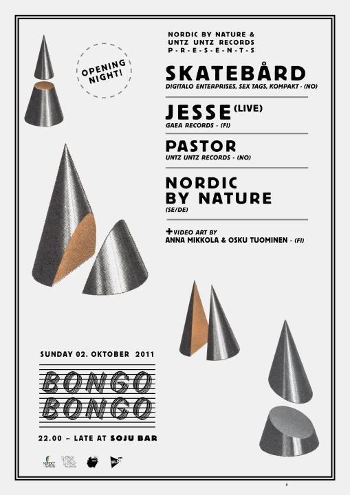 Bongo Bongo Opening Night - Flyer front