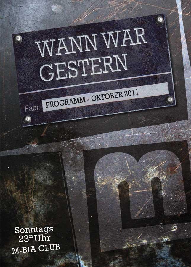 Wann War Gestern - Flyer front