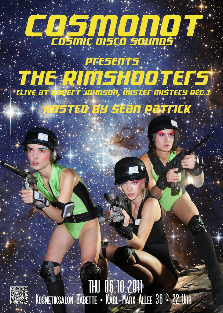 Cosmonot Pres. The Rimshooters Aka Massimiliano Pagliara and Rotciv - Flyer front