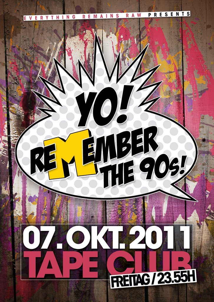 Yo! Remember The 90s - Flyer front