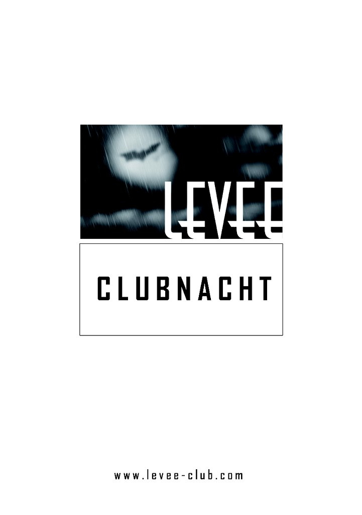Clubnacht - Flyer front