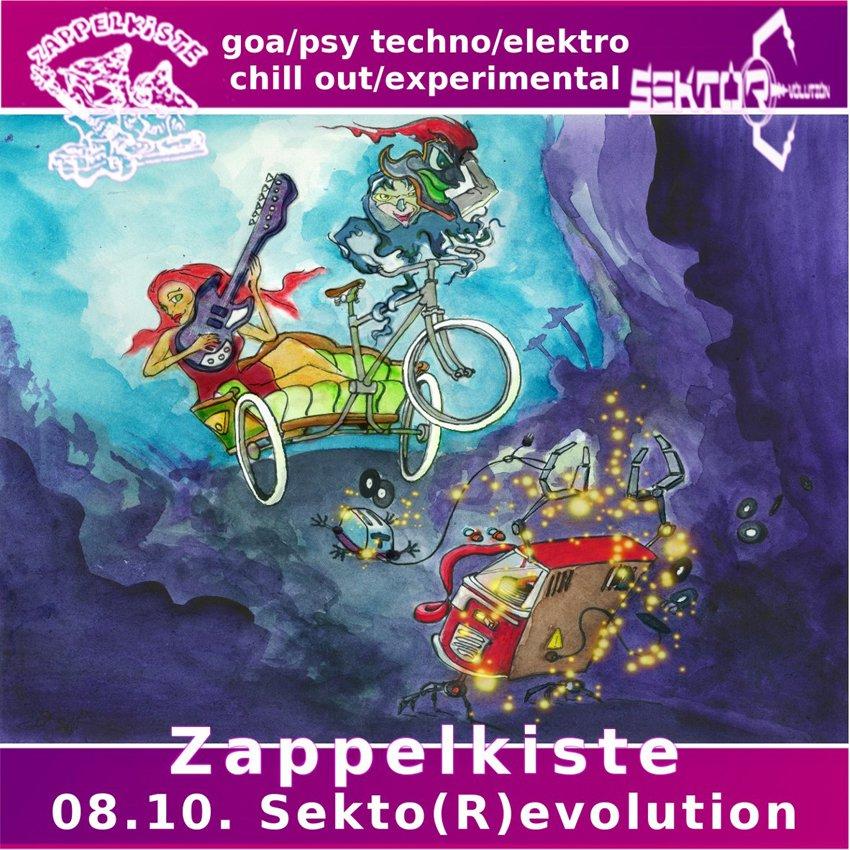 Zappelkiste Nr. 13 - Goa-Psy, House-Techno-Electro-Acid, Chill - Flyer front