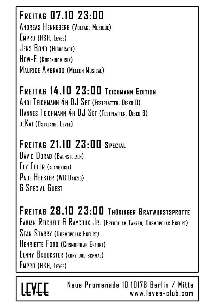 Clubnacht Teichmann Edition - Flyer back