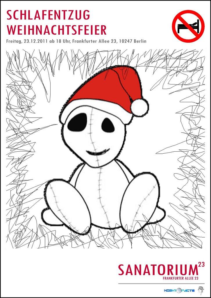 Schlafentzug Weihnachtsfeier - Flyer front