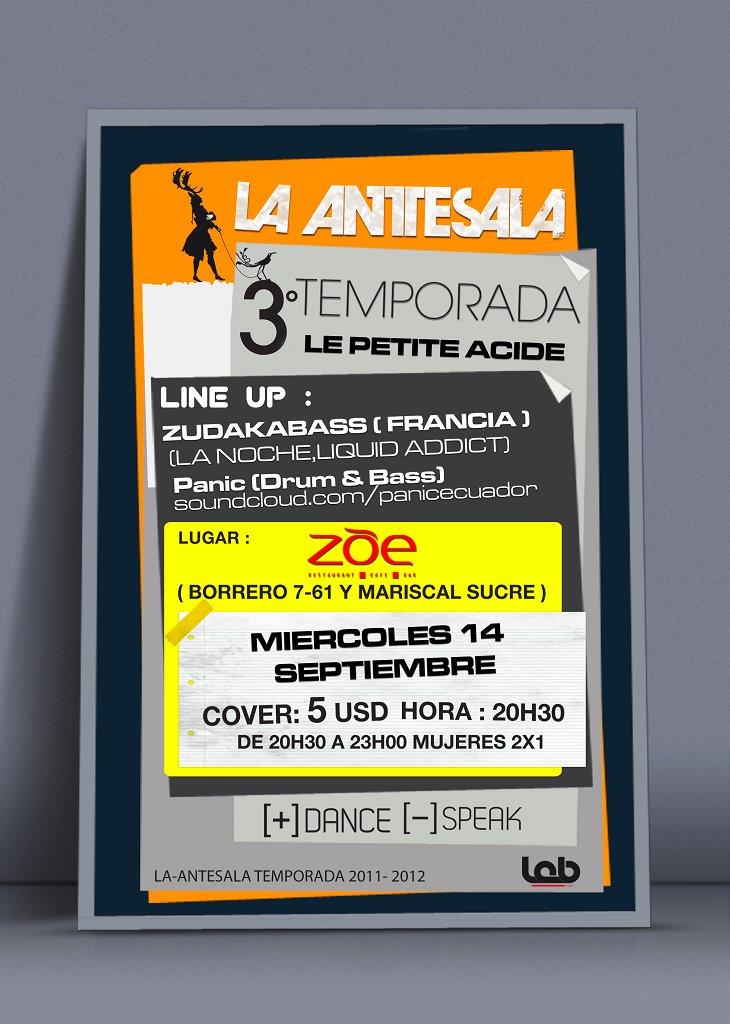 La-Antesala presenta: Miercoles De Le Petite Acide - Flyer front