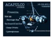 La Preli! Aniversario Club Acapulco 3 Años - Flyer front