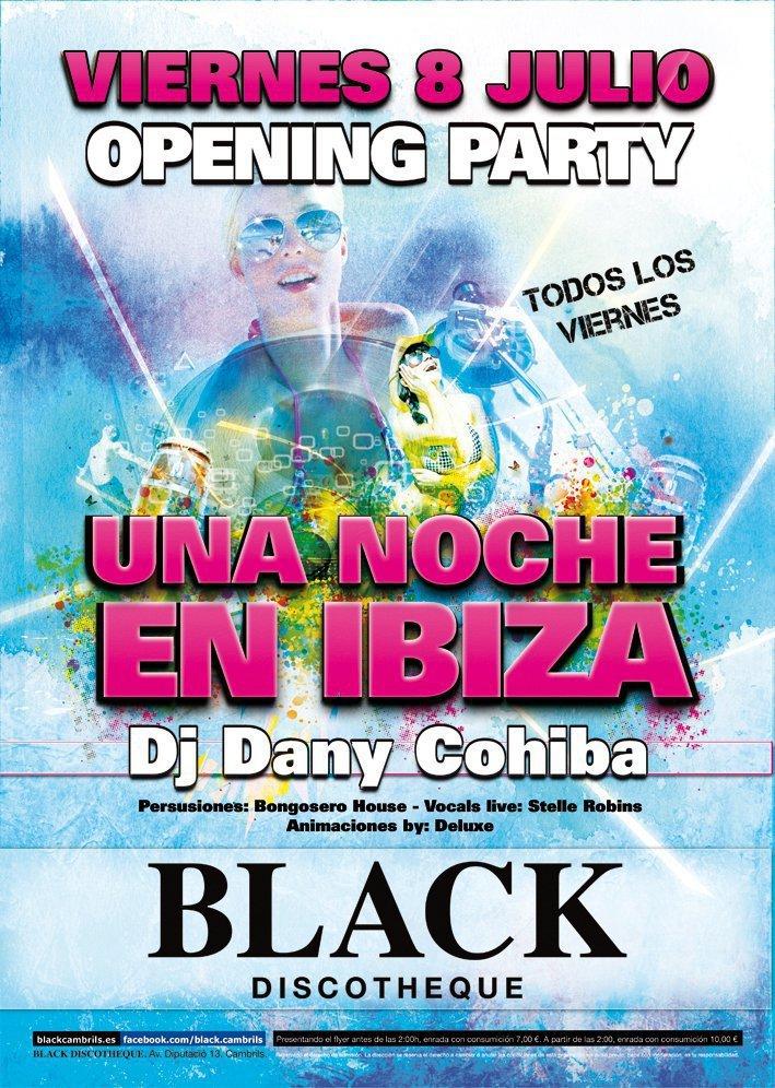 Dany Cohiba - Black Cambrils Tarragona - Flyer front