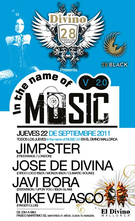 In The Name Of Music V 2.0 - Flyer front
