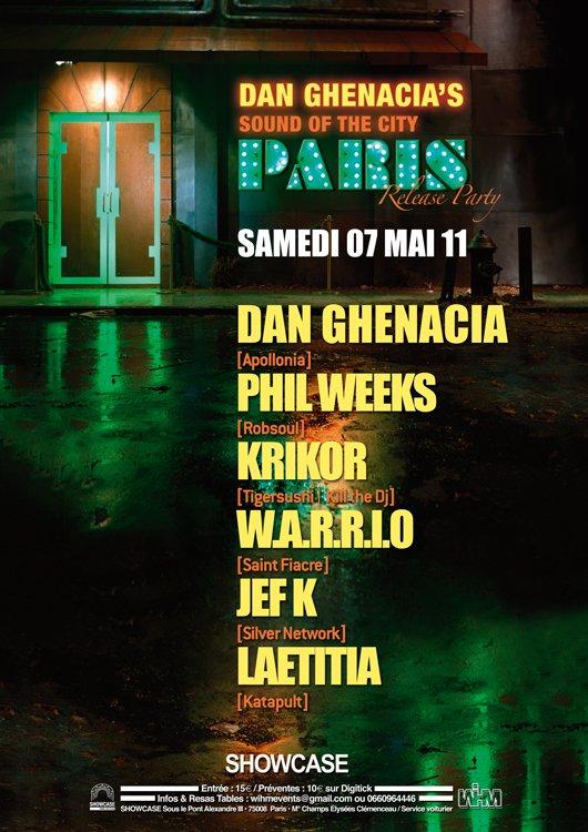 Dan Ghenacia's Sound Of The City: Paris Release Party - Flyer front