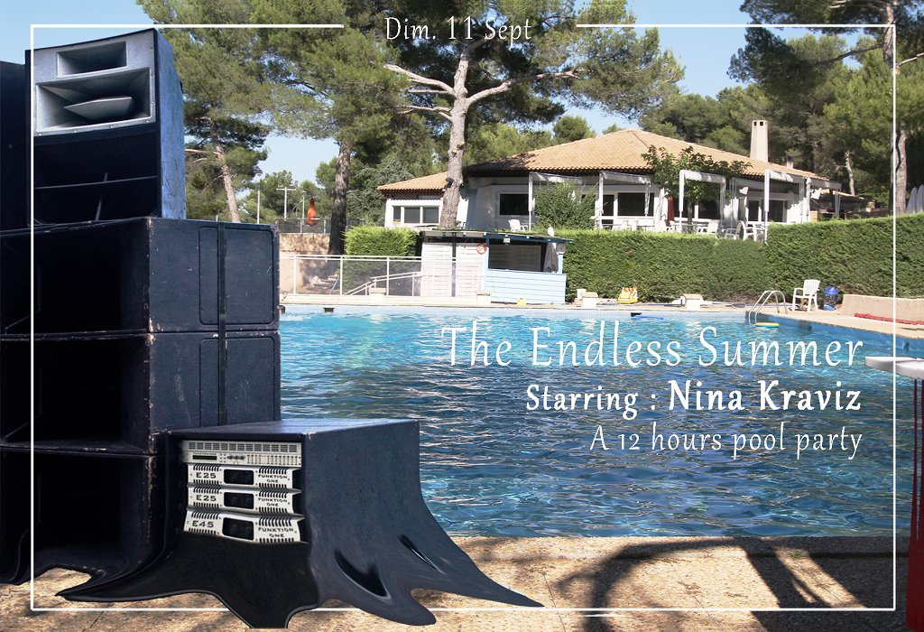 The Endless Summer: 12 Hours Pool Party with Nina Kraviz - Flyer front