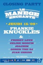 Closing Party at Le Manège Enchanté - Flyer front