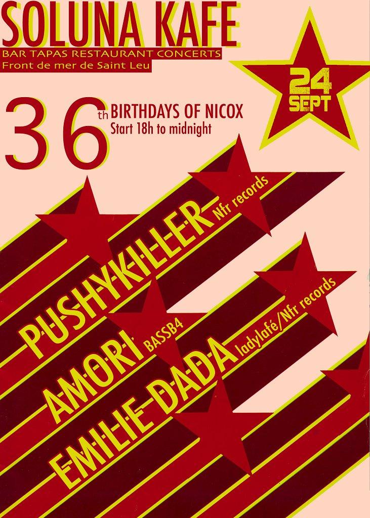36th Birthdays Of Nicox - Flyer front