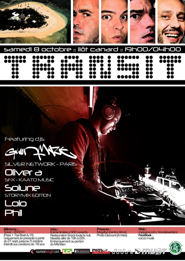 Transit Events New Caledonia present Gwen Maze - Flyer front