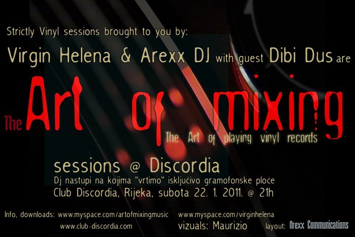 Art Of Mixing - Flyer front