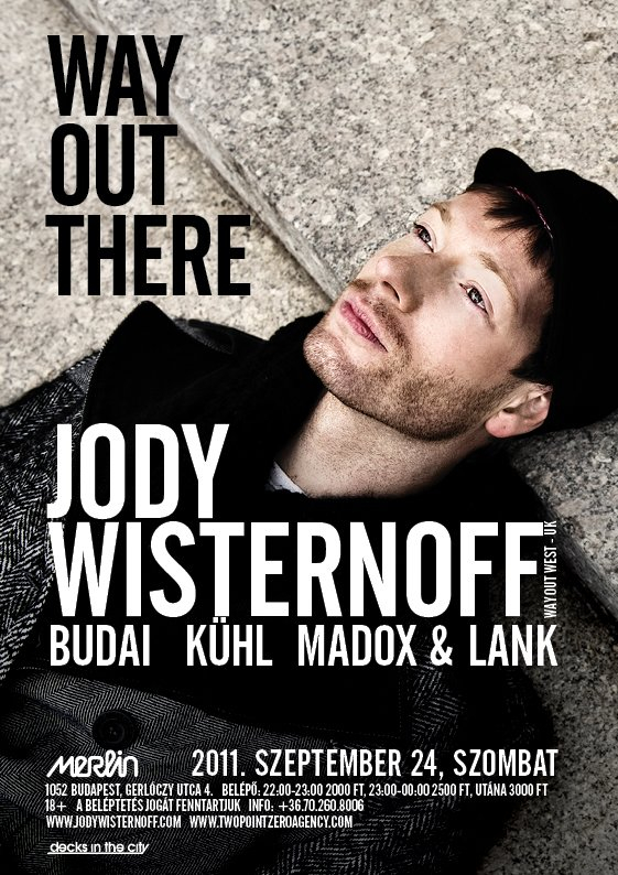 Way Out There with Jody Wisternoff - Flyer front