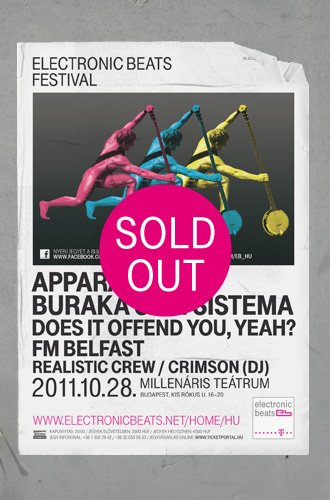 Electronic Beats Festival - Flyer front