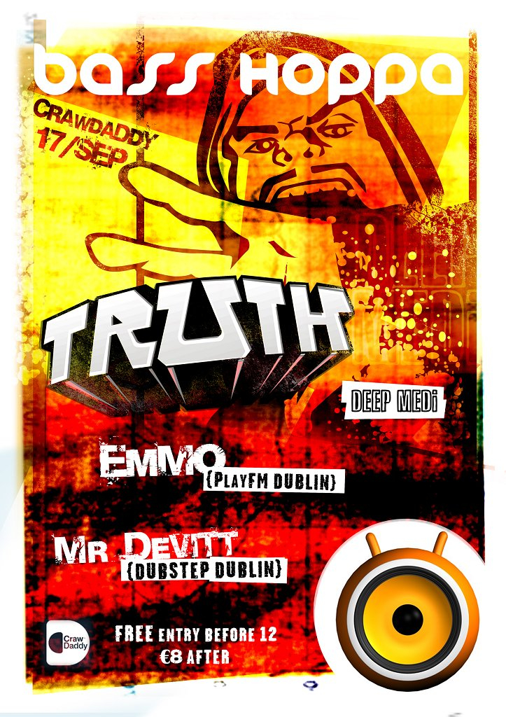 Truth at Bass Hoppa - Flyer front