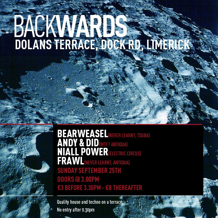 Backwards with Bearweasel - Flyer front