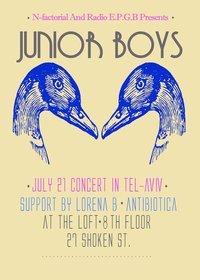 N Factorial & Radio E.P.G.B present: Junior Boys - Flyer front