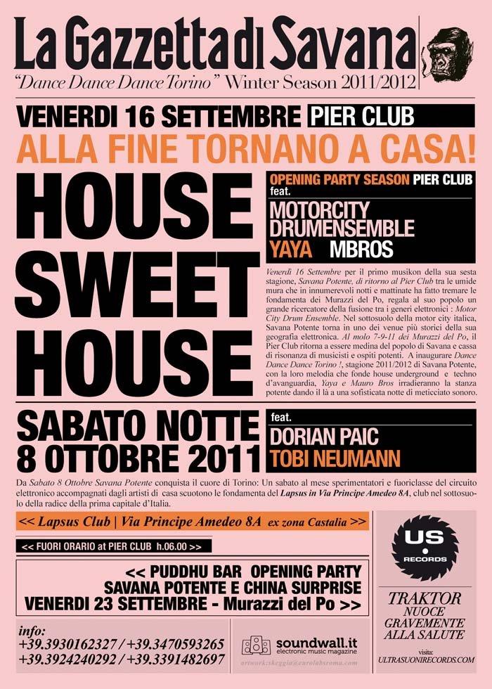 Savana Potente presents Dance Dance Dance Torino Opening Party - Flyer front