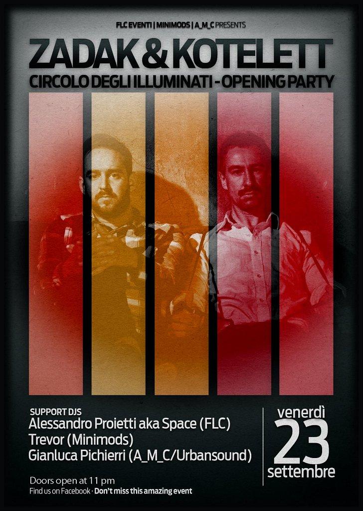 Opening Party with Zadak & Kotelett - - Flyer front