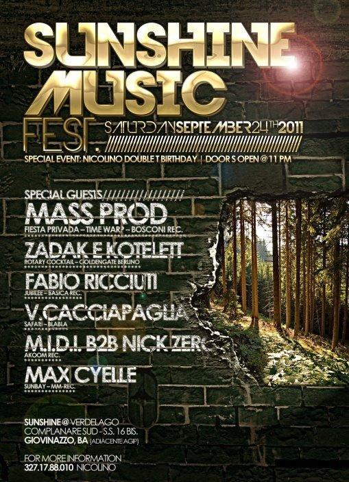 Sunshine Music Festival - Flyer front