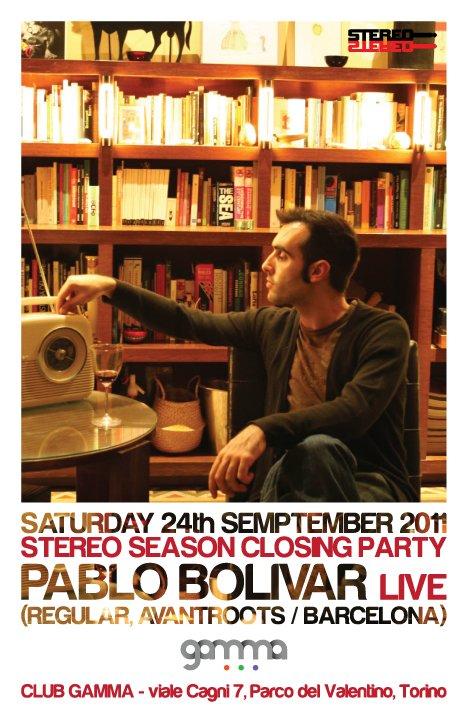 Stereo Pres. Pablo Bolivar live - Flyer front