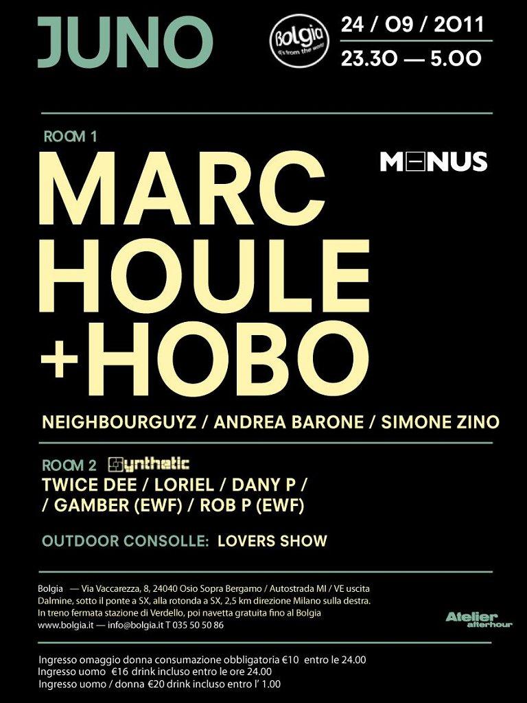 Dj Set with Marc Houle & Hobo - Flyer front