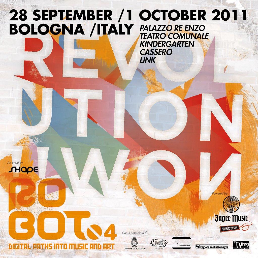 roBOt Festival 4: Beat.Inc, Andrea Sartori& Julian Carax, Hundred Cinema and Many More - Flyer front