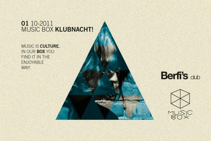 Music Box Klubnacht with Applescal Live - Flyer front