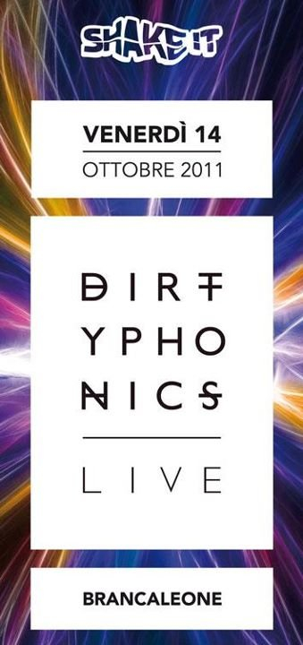 Dirtyphonics Live At Shake It - Flyer front