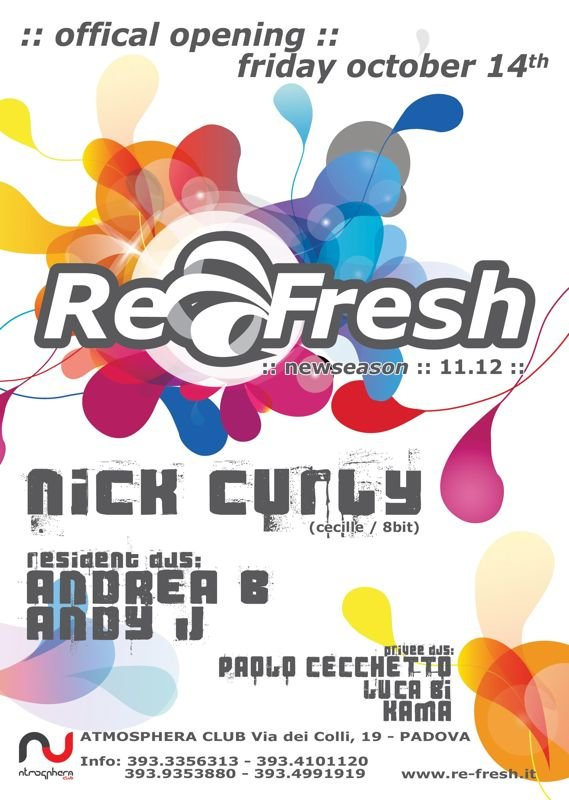 Re-Fresh Opening Party with Nick Curly - Flyer back